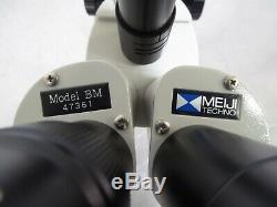 T158594 Meiji Techno Model BM Stereo Microscope with Boom Stand, 1x WF10X Eyepiece