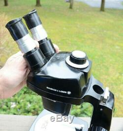 Tested Pretty Bausch & Lomb Stereo Zoom Microscope 7x-30x #25