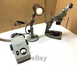 UNITRON Vintage Stereo-optic Microscope MSF 60770 Light & Converter Works
