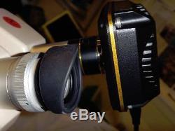 USED #2 SWIFT SM-80 BINOCULAR 1X 2X STEREO MICROSCOPE WithLUXO ARTICULATING ARMS