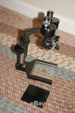 VINTAGE Bausch & Lomb STEREO Microscope. 10X-30X Nice