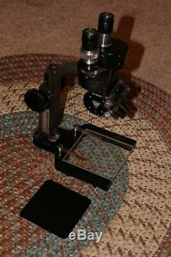 VINTAGE Bausch & Lomb STEREO Microscope. 6X, 14X and 18X Nice