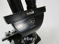 Vintage American Optical AO Spencer Binocular Microscope stereo illuminated US