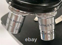 Vintage American Optical AO Spencer Binocular / Stereo Microscope 4 Objectives