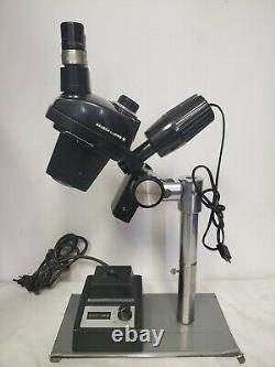 Vintage BAUSCH & LOMB Stereo 0.7x-3x Microscope with Illuminator and Transformer