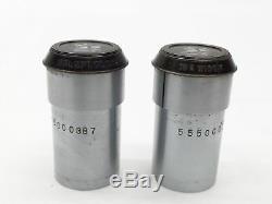 Vintage Bausch & Lomb DD4017 Stereo Binocular Microscope With 6x 3x 1x Objectives