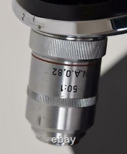Vintage Ernst Leitz GmbH Wetzlar Germany Binocular Stereo Microscope