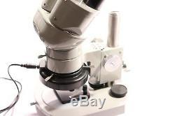 Vintage Nikon 70879 Stereo Microscope + 10x Eyepieces + 60 LED Light & Stand