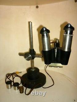 Vintage STEREO ZOOM BINOCULAR MICROSCOPE stereomicroscope binoculaire Nachet