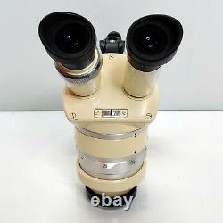 WILD HEERBRUGG M5 Stereo Zoom Microscope with Custom MEIJI FOCUS & PIN MOUNT #701