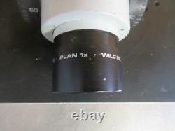 WILD HEERBRUGG TYP 355110 With 2 STEREO MICROSCOPE HEADS WILD/LEICA 10X/21 1X PLAN