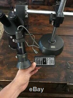 WILD Heerbrugg M4 Stereo Zoom Microscope With Light & Adjustable Base Ser#25621