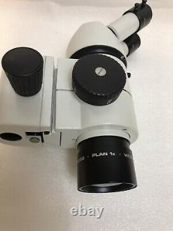 Wild Hebrugg Stereo Microscope M8, 1x Plan, 10x/21 eyepieces with Boom Stand