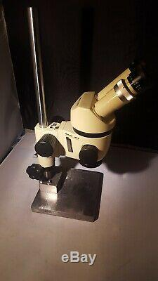 Wild Heerbrugg M3 Stereo Microscope on Custom Steel Stand