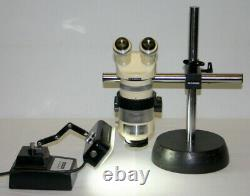 Wild Heerbrugg Stereo Microscope, Model M7a With S Stand & Light