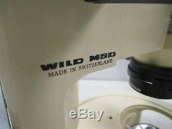 Wild Heerbrugg Switzerland M5D Microscope Stereo Stereomicroscope Binocular Rare