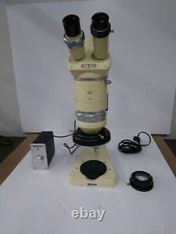 Wild M5 Stereo Microscope 6-50 Zoom, Ring Light, Stand, & Trinocular/Photo Tube