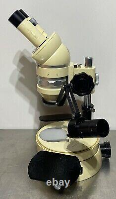 Wild M5 Stereo Microscope on Incident/Transmitted Light Stand with Arm Rests