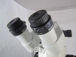 Wild stereo zoom Microscope M8, binocular with Wild 10x eye pieces on stand