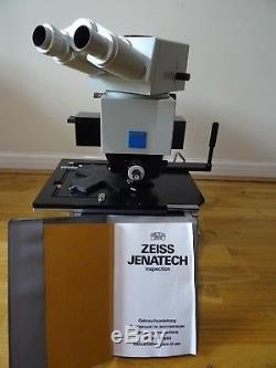 Zeiss Germany Jenatech Inspection Stereo Binocular Microscope Microscopy