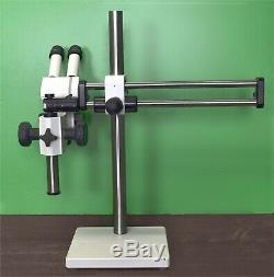 Zeiss Stemi SV6 Stereo Microscope with boom stand, & Cold Light source