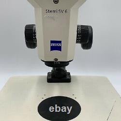 Zeiss Stemi SV6 Stereo Microscope withTLB3000 Transmitted Light Base & Ace 1 Light