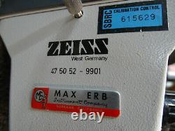 Zeiss Stereo Microscope 47-50-52 9901 24 Swivel Boom Arm with WF10X20 Eyes