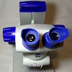 Zeiss Stereo Microscope 8x-32x Stemi DV4 with stand & power cord