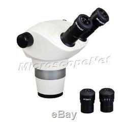 Zoom 6X-100X Stereo Binocular Microscope Body (76mm) Plus Pair 20X Eyepieces